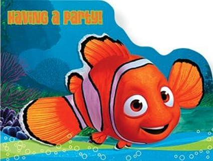 Amazon Com Finding Nemo Invitations 8 Count Toys Games