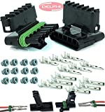 delphi electrical connectors - Delphi Packard (6 Circuits) Weatherpack, Waterproof, Terminal Kit 14, 16 AWG