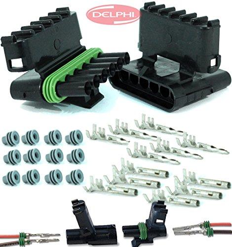 Delphi Packard (6 Circuits) Weatherpack, Waterproof, Terminal Kit 14, 16 AWG