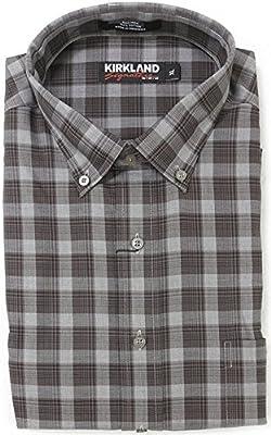 Kirkland Signature Men's Button Down Long Sleeve Non-Iron Sport Shirt