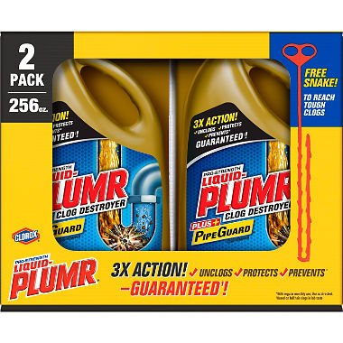 Liquid-Plumr 128 oz Full Clog Destroyer Pro-Strength Drain Cleaning Clog Remover, - Drain Strength Professional