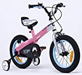 Y & Y TOY STORE ON LINE Girls' Button Bike Bicycle, Matt Pink-Blue Rim, BUTTON-14
