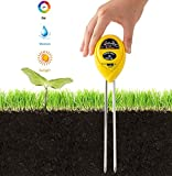 Golden Scute 3 in 1 Soil Tester for PH Moisture Light Meter Gardening Tools Farm Indoor Outdoor Use Easy to Read (No Battery Needed)