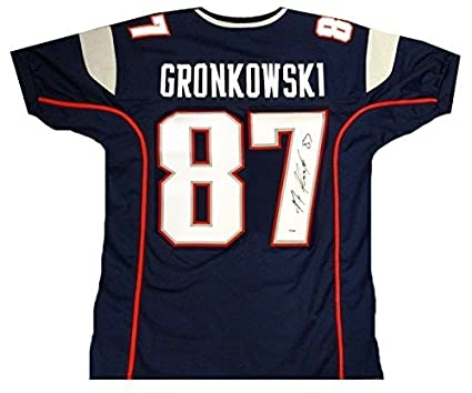 premium selection bdad6 d0f6d Rob Gronkowski JSA Signed Patriots Jersey at Amazon's Sports ...
