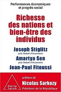 Richesse des nations et bien-être des individus : performances économiques et progrès social par Joseph E. Stiglitz