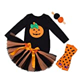 stylesilove Halloween Pumpkin 5 pcs Baby Toddlers Girls Costume Dress Clothing Set