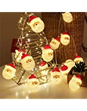 Christmas String Lights, Waterproof Battery Operated LED Christmas Lights for Xmas Tree, 9.8ft 20 LEDs Indoor Outdoor String Lights DIY Halloween Decoration, Christmas Ornaments Décor