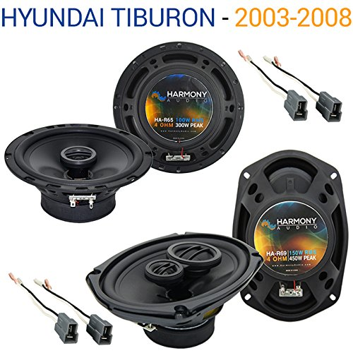 Fits Hyundai Tiburon 2003-2008 OEM Speaker Replacement Harmony R65 R69 Package ()