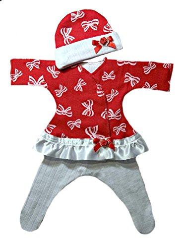 Jacqui's Baby Girls' Beautiful Bows Sassy Dress, Preemie