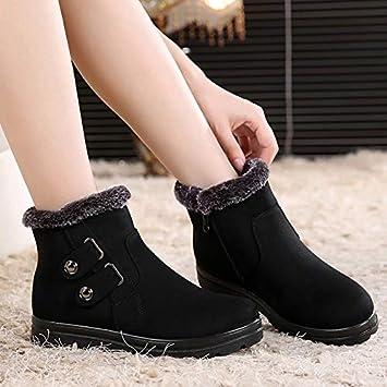 Shukun Botines Botas de algodón de Las Mujeres en Las Personas Mayores Zapatos de algodón de