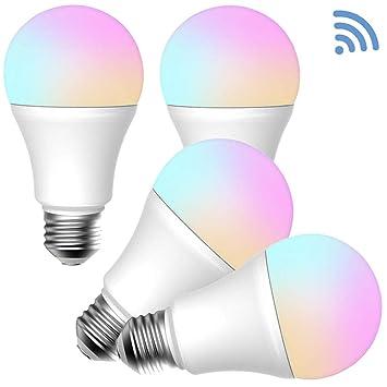 Bombilla LED regulable e inteligente Wi-Fi E27, blanco ajustable (2700K-6500K