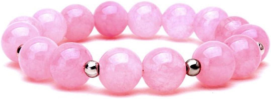 piedra de cristal de color rosa pulsera de regalo presente para mujer mamá caja de regalo: Amazon.es: Joyería