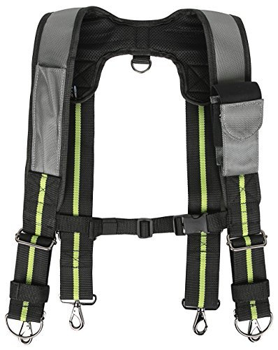 - Padded Tool Belt Suspenders w/ Phone Pocket, Chest Strap, Pencil Sleeve | Lightweight Comfortable & Strong Durable | Adjustable 1680D Ballistic Nylon | Contractor Grade Framer Suspension Rig