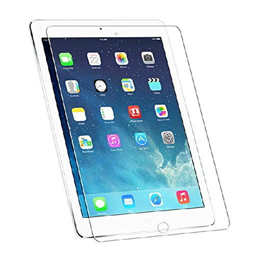 Lcd Scratch Guard - HDE Tempered Glass Screen Protector for New Apple iPad Air 1/Air 2/9.7 - Easy to Install Scratch Resistant LCD Guard for 9.7 Inch iPads