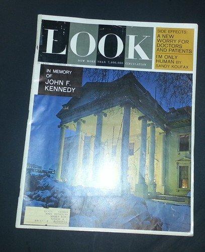 - LOOK Magazine -  December 31, 1963  -  In Memory of John F. Kennedy JFK, Sandy Koufax, Daniela Bianchi James Bond 007's Second Girl Friend