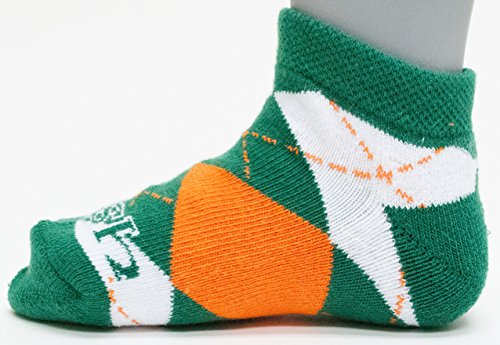 (Donegal Bay NCAA Notre Dame Fighting Irish Youth Argyle No Show Socks, Green, 3-5 Years)