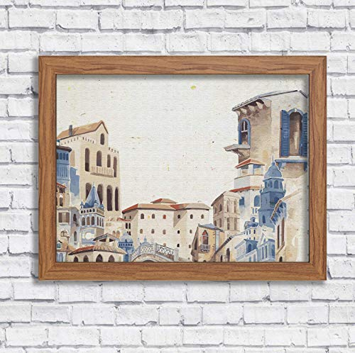Mediterranean City Watercolor Art Print Travel Wall Decor Italy Greece Wall Art City Artworks Home Office Decor Travelers Gift