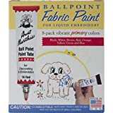 Arts & Crafts : Aunt Martha's Ballpoint 8-Pack Embroidery Paint, Primary Colors