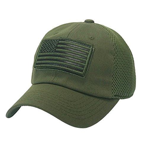 6c6cd661bad The Hat Jungle USA American Flag Patch Tactical Hat Mesh Back Adjustable Baseball  Cap