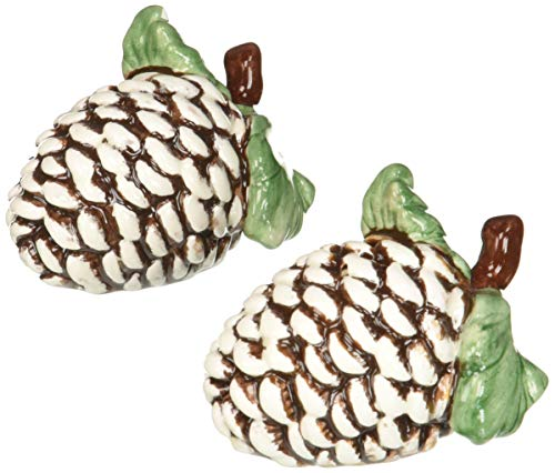 Pinecone Tree Gift Set - Cosmos Gifts 10294 Holiday/Seasonal Pine Cone Salt and Pepper Set, 2-1/2-Inch