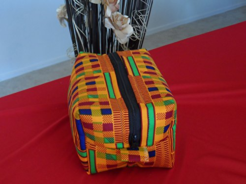 Kente African Cosmetic/Travel Bag