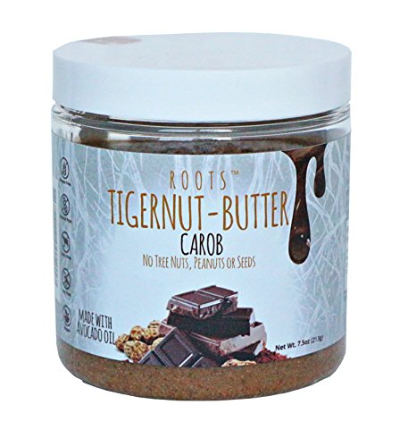 Tigernut butter ALLERGEN FRIENDLY and 100% NATURAL | No nuts, seeds, gluten or soy | AIP and paleo compliant (7.5 oz.) Carob Flavor.