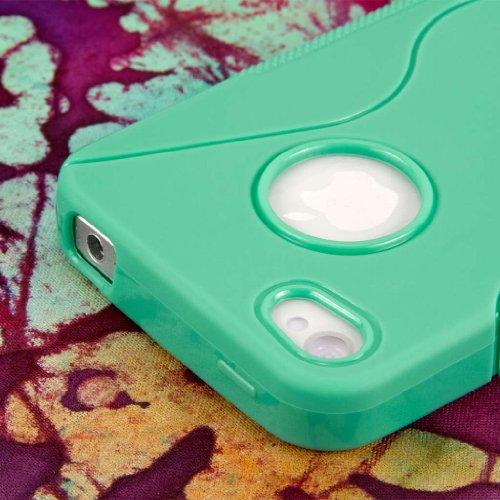 MPERO FLEX S Series Protecteur Coque Etui Case pour Apple iPhone 4 / 4S - Mint Menthe Vert