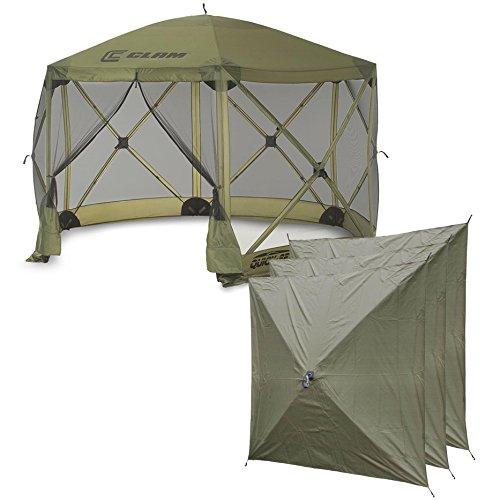 Quick-Set Clam Escape Portable Outdoor Canopy + 3 Wind Panels