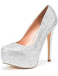 Women's Swan-30 High Heel Plaform Dress Pump Shoes