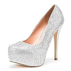 Women's Swan High Heel Platform Dress Shoes