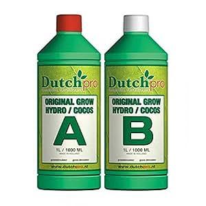 Dutch Pro hidrográfico jacquelien/crecer Original 1 litro a y B agua dura hidroponía tienda yogastudio ventilador filtro Neutrients