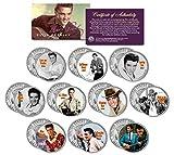 ELVIS PRESLEY MOVIES Colorized JFK Half Dollar U.S. 10-Coin Set LICENSED by Merrick Mint