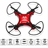 Drone, soled Portable Pocket Quadcopter, 2.4G Hz 6 Axis Gyroscope 4 Channel four-axial Drone, Quadcopter with Remote Control, 360° 3D Flip & Roll, Headless Mode and One Key Return Home (Red)