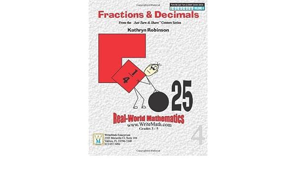 Fractions & Decimals Math Worksheets - 3rd, 4th, 5th Grade (Just ...