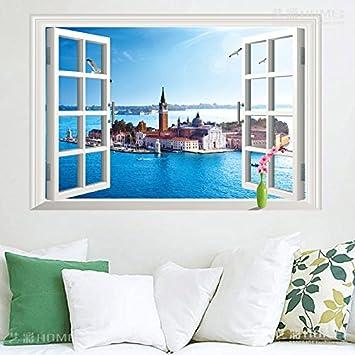 Schon HYu0026GG 3D Dreidimensionale Landschaft Malerei Wand Mediterrane Schlafzimmer  Wohnzimmer Dekorationen Sofa Hintergrund Wand Aufkleber