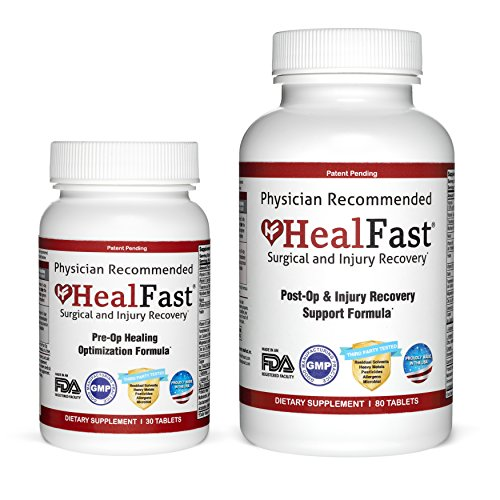 HealFast Complete Surgery & Injury Recovery Supplement (Best Vitamins For Wound Healing)
