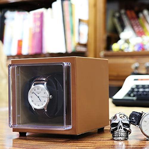 LHorizoncn Contenitore di Argano Singolo Orologio Pelle Automatic Storage Case Orologio Meccanico, Adatto A Tutti Gli Orologi di Marca (Marrone)