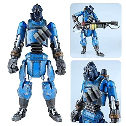Amazon com: Team Fortress 2 Blue Robot Pyro Action Figure