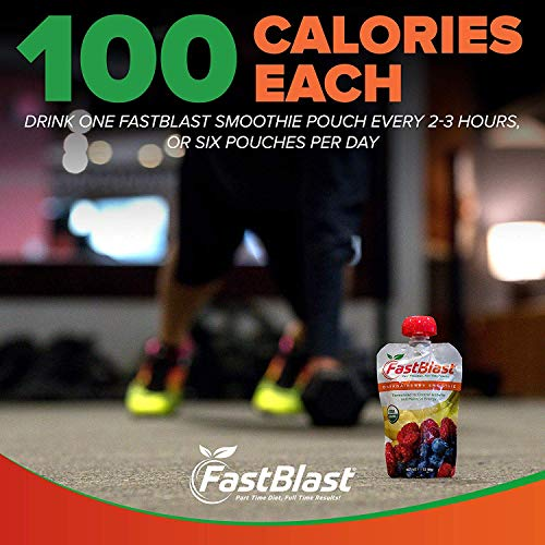 FastBlast Banana-Berry Smoothie. Supports Intermittent Fasting. Controls Appetite and Maintains Energy. USDA Certified Organic, Vegan, Non-GMO, Soy Free & No Added Sugar (48 Units: 4 Packs of 12) by FastBlast (Image #3)