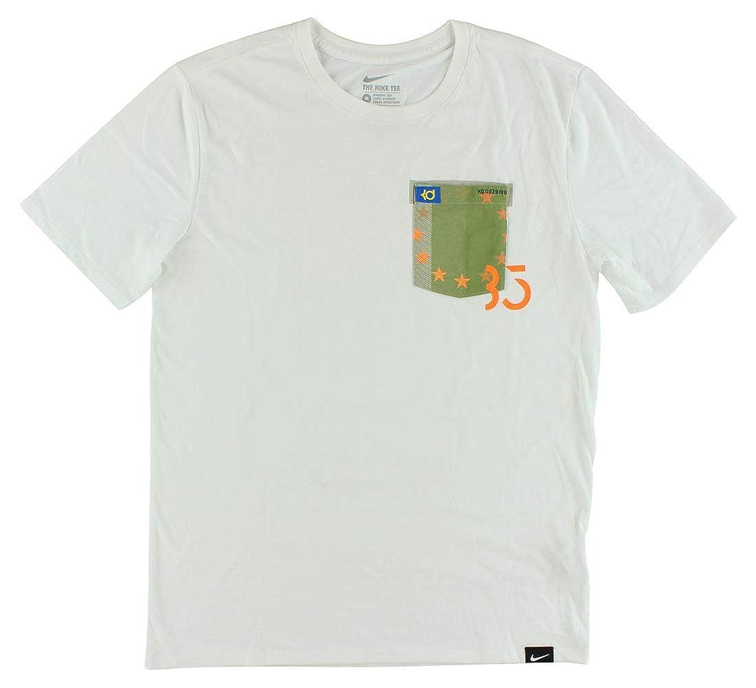 ca897f54 NIKE Mens KD 8 HO2 Pocket Dri-Fit Shirt White/Green/Orange at Amazon Men's  Clothing store: