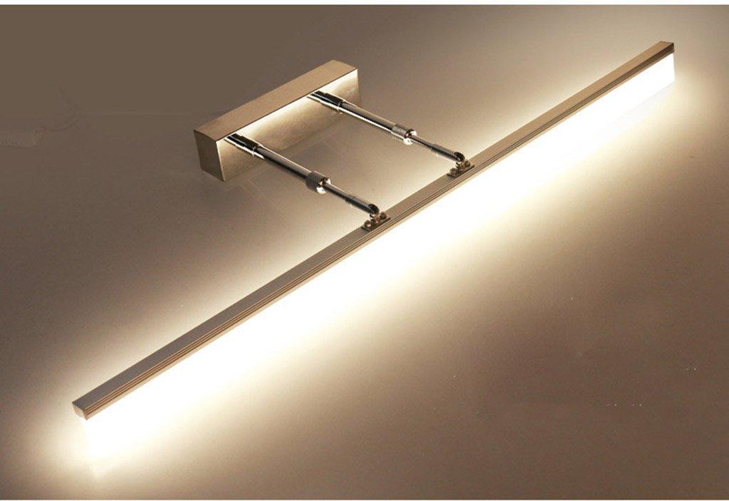 Bad Spiegelleuchten LED-Badezimmer-Spiegel-Lichter, einziehbares Arm-Kabinett beleuchtet wasserdichte Nebellampe ( Farbe : Weißes Licht-22w/120cm ) ZGP