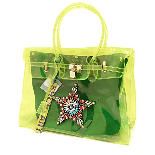 8382G borsa donna gialla SHOP ART borsetta bag women giallo