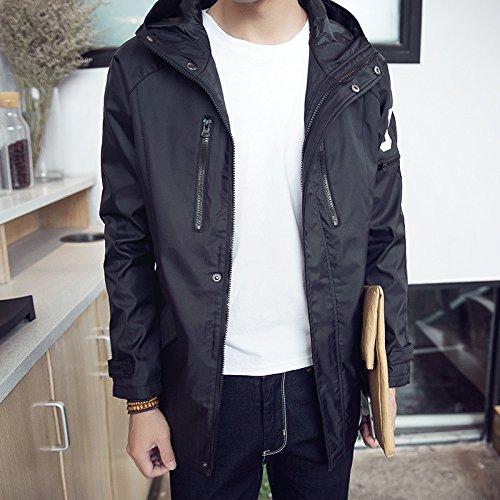 Elegante casual moda masculina otoño largo apartado en las chaquetas de hombres jóvenes versión coreana de la SAU hombre e incluso la tapa negra ,M