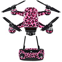 Skin for DJI Spark Mini Drone Combo - Pink Leopard| MightySkins Protective, Durable, and Unique Vinyl Decal wrap cover | Easy To Apply, Remove, and Change Styles | Made in the USA