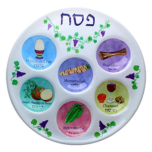 Disposable Plastic Seder Plate for Passover (Pack of 10)  -