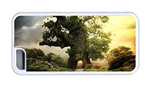 Hipster iPhone 5C case best fantasy house tree TPU White for Apple iPhone 5C