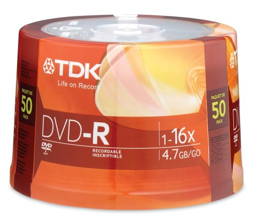 TDK 16X DVD-R 50 Pack Spindle by TDK