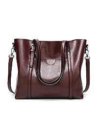 SIFINI Women Fashion Top Handle Satchel Handbags Shoulder Bag Tote Purse Crossbody Bag