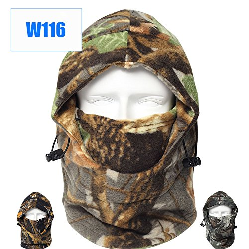 Dxnona® Outdoor Warm Windproof Camouflage Fleece Head Hat Face Mask (multicolor 1) - Hunting Face Mask