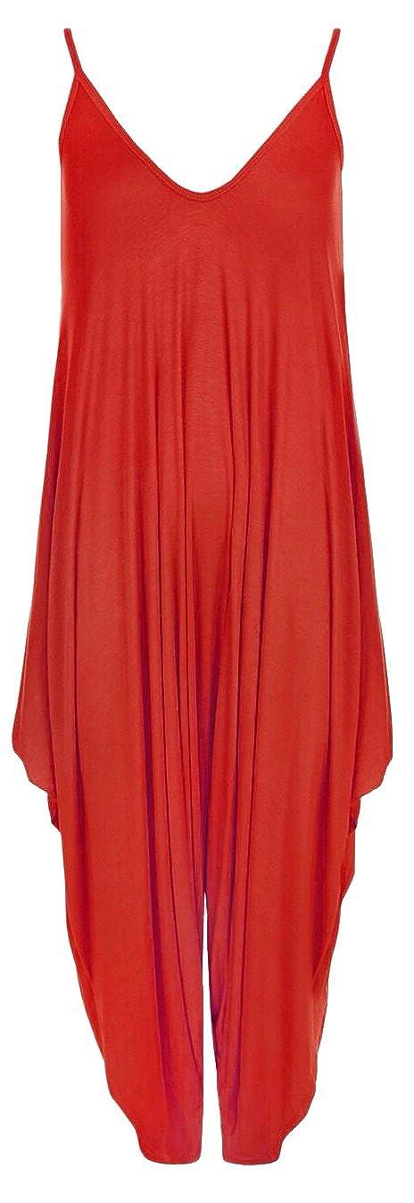 Kids Baggy Hareem Jumpsuit Romper Lagenlook Sleeveless All in One V-Neck Cami Girls Playsuit